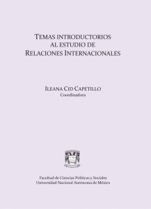 Temas introductorios al estudio de Relaciones Internacionales