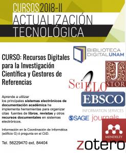 CURSO: Recursos Digitales para la Investigación Científica y Gestores de Referencias