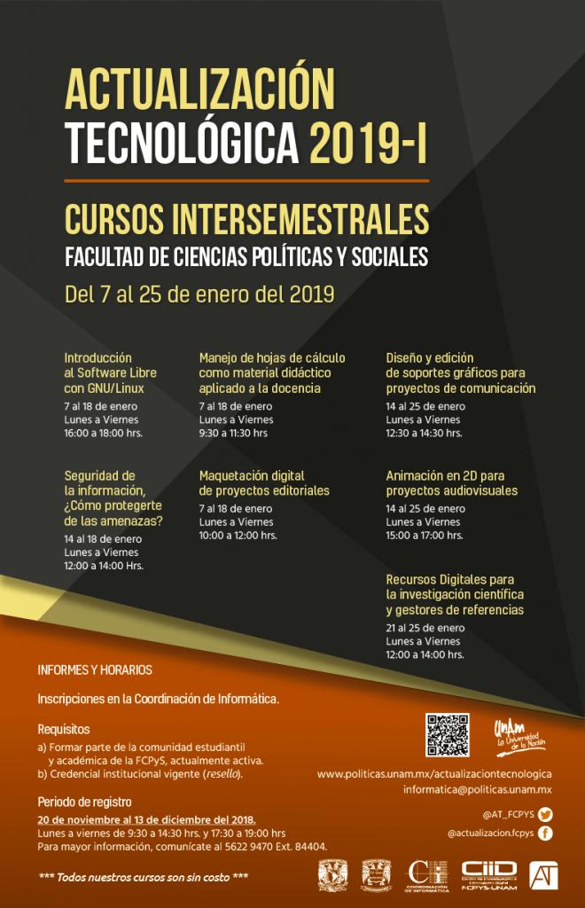 Cursos Intersemestrales 2019-1